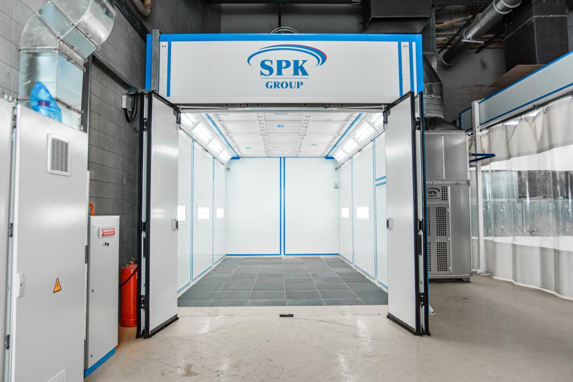 Зона подготовки и окрасочно-сушильная камера для легковой коммерческой техники SPK-8.4.4