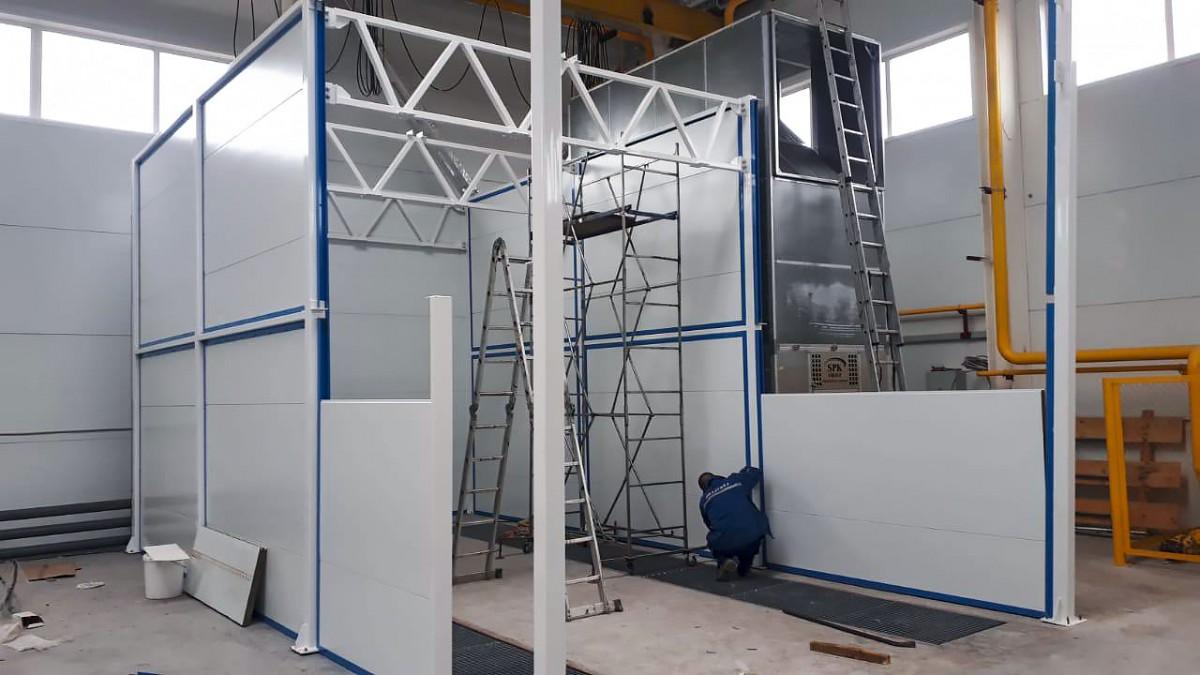 2 окрасочно-сушильные камеры для металлоконструкций SPK-6.4.4 и SPK-8.4.4, г. Оренбург