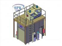 Малярная камера для металлоконструкций SPK-4.2.3