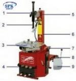 Полуавтоматический шиномонтажный станок Titanium100/22 Werther-OMA (Италия)