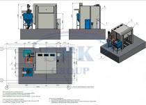 Схема расположения дробеструйного оборудования