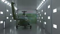 Тупиковая покрасочно-сушильная камера для вертолетов SPK - 30.10.7