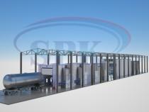 Комплекс подготовки окраски и сушки поверхности для железнодорожного транспорта