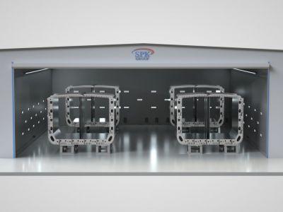 Комплект оборудования SPK для очистки поверхности блоков (32 оператора)