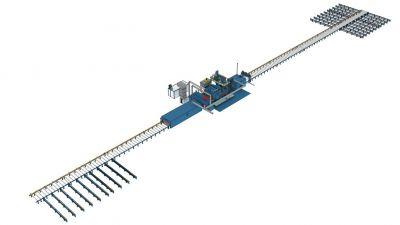Автоматизированная линия дробеметной очистки и консервации металлопроката SPK D K 45.10.45-R для судостроения