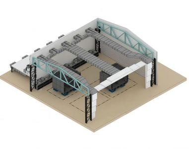 Камера окраски для судовых конструкций SPK- 60.45.20
