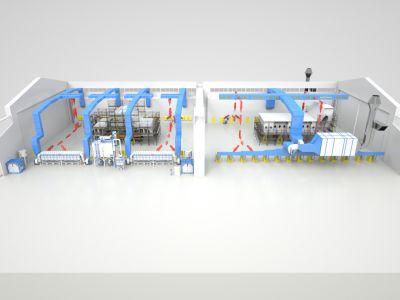 Комплект оборудования SPK для комплекcа дробеструйной очистки и окраски поверхности морских сооружений