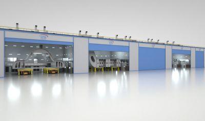 Комплект оборудования SPK для дробеструйной очистки и окраски блоков судов