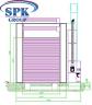 Малярная камера для окраски вагонов с возможностью разделения на 7 и 15 м SPK-22.6.6.5